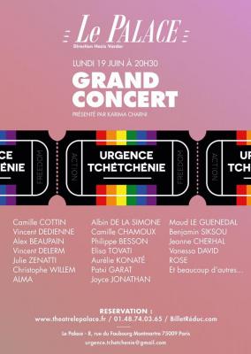 Grand concert Urgence Tchétchénie au Palace
