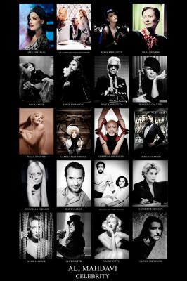 Exposition Glamourama Celebrities d'Ali Mahdavi au Prince de Galles Hôtel
