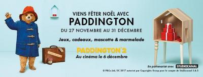 Noël avec Paddington dans les boutiques de Saint Lazare !