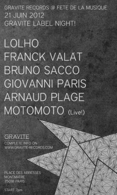 GRAVITE LABEL NIGHT @ FETE DE LA MUSIQUE 2012