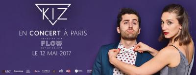 KIZ, le duo électro-pop au concept novateur sera en concert à Paris le 12 mai 2017 sur la péniche Le Flow