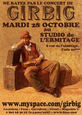 Concert, Paris, Girbig, Studio de l'ermitage