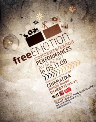 Concert, Exposition, Paris, Free Emotion, Glaz'art