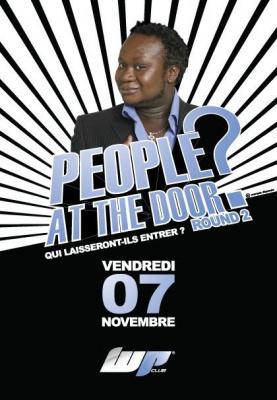 Soirée, Paris, People at the door, Etoile.