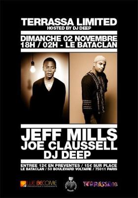 Soirée, Paris, Jeff Mills, Joe Claussell, DJ Deep, Bataclan