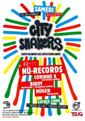 Concerts, Paris, City Shakers, Nû-Records, Glaz'art