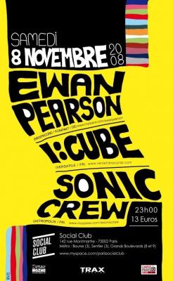 Soirée, Paris, Ewan Pearson, I Cube, Sonic, Social Club.