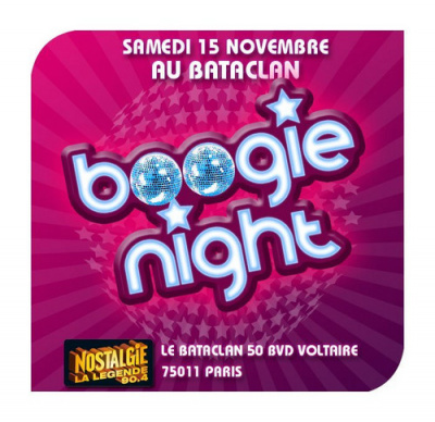 Soirée, Paris, Boogie Nights, Bataclan, Disco