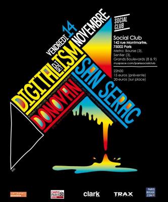 Soirée, Paris, Digitalism, San serac, Donovan, Social Club