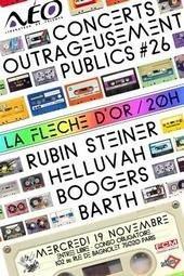 Concerts, Paris, Concerts outrageusement publics, Fleche d'Or, Rubin Steiner