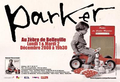 Concert, Paris, Parker, Zèbre de Belleville
