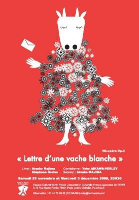 Spectacle, Paris, France-Japon, No-Opéra, Lettre d'une vache blanche, Espace Culturel Bertin Poirée