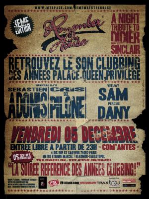 Soirée, Paris, Clubbing, House, Remember, Com'antes