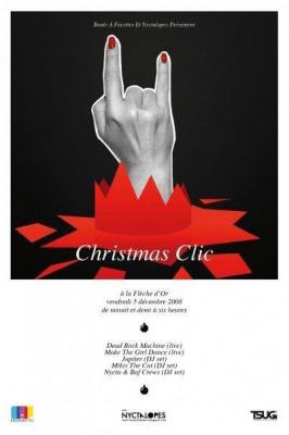 Soirée, Paris, Clubbing, Christmas Clic, Dead Rock Machine, Make the girl dance, Jupiter, Mikix the cat, Boule à facettes, Nyctalopes