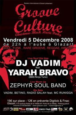 Soirée, Paris, Glaz'art, Christmas Black Musik Party