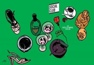 Soirée, Paris, Jour de l'an 2008, Social Club, NYE