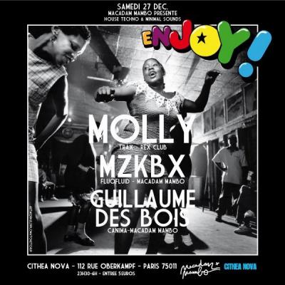 Soirée, Paris, Enjoy, Cithea Nova, Molly, MZKBX, Guillaume Des Bois