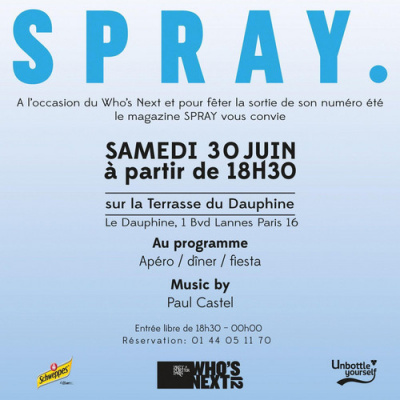 Who's Next Party by SPRAY ! @ La Terrasse du Dauphine