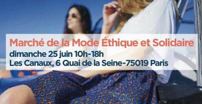 Marché de la mode éthique et solidaire sur le canal de l'Ourcq