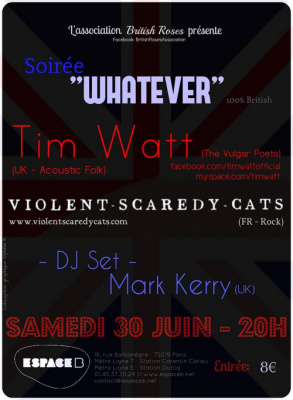 WHATEVER , soirée 100% brit rock
