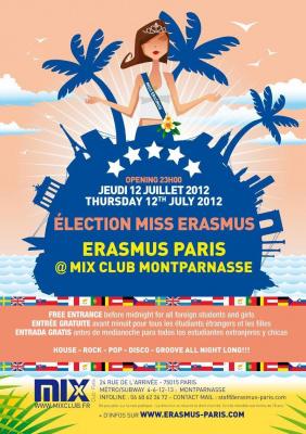 Erasmus Paris : Election Miss Erasmus