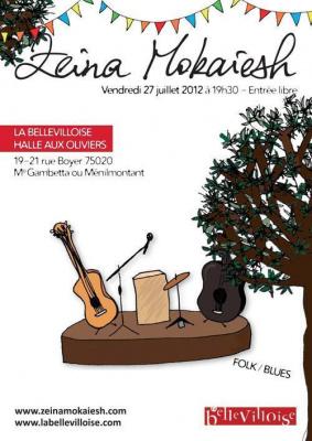 Concert de Zeina Mokaiesh à la Bellevilloise