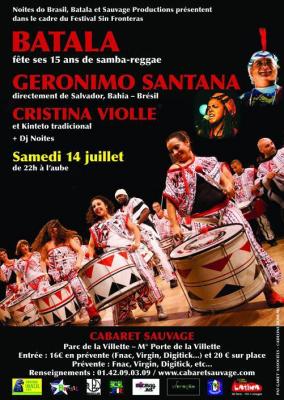 Carnaval de Bahia avec Geronimo et Batala