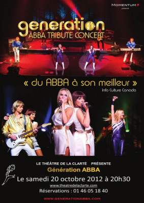Génération ABBA Tribute Concert