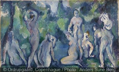 Paul Cézanne, Baigneuses, vers 1895, huile sur toile, 47 x 77 cm