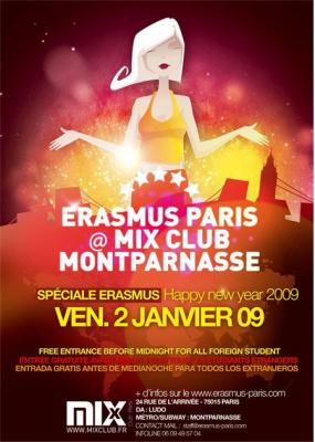 Soirée, Paris, Erasmus, Mix, Etudiants