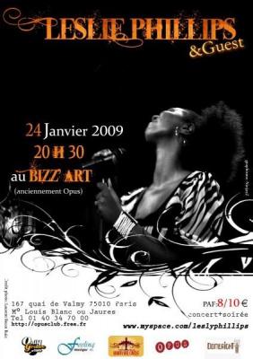Concert, Paris, Bizz'art, Leslie Phillips