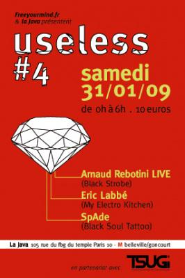 Soirée, Paris, Clubbing, Arnaud Rebotini, Eric Labbé, Spade, Useless, Java