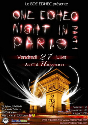 One EDHEC Night In Paris