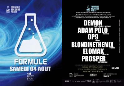 FORMULE RECORDS PARTY avec DEMON / ADAM POLO / OP9 / BLONDINETHEMIX / ELOMAK / PROSPER!