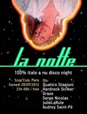 LA NOTTE 100% ITALODISCO & NUDISCO
