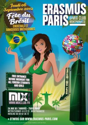 Erasmus Paris : Fete du Brésil