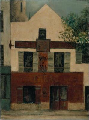 Maurice Utrillo Place du Tertre à Montmartre, Restaurant de la Mère Catherine, vers 1912 Huile sur toile, 80 x 60,5 cm Collection particulière, Suisse. © Jean Fabris © Adagp, Paris 2008