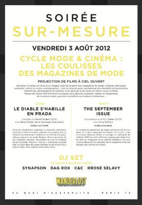 SUR-MESURE : CYCLE MODE ET CINEMA : LES COULISSES DES MAGAZINES DE MODE