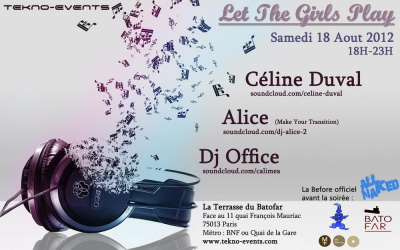 LET THE GIRLS PLAY : CELINE DUVAL/DJ ALICE/DJ OFFICE - Before ALL NAKED