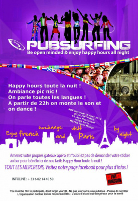 PUBSURFING - APÉRO INTERNATIONAL + BEER PONG @THE FIFTH BAR