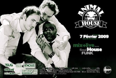 Soirée, Paris, Djoon, Animal House, Fudje, Reverend P