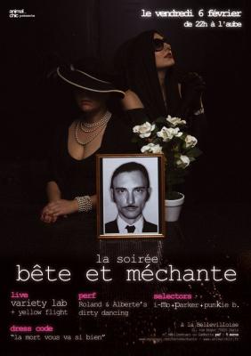 Soirée, Concert, Paris, Clubbing, Bellevilloise, Soirée bête et méchante, Yellow Flight, Variety Lab, Roland & Alberte