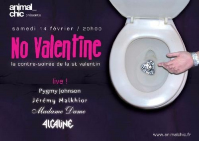 Soirée, Paris, No Valentine, Saint Valentin, Bellevilloise, Animal Chic