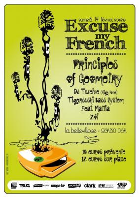 Soirée, Paris, Clubbing, Bellevilloise, Excuse my french, Principles of Geometry
