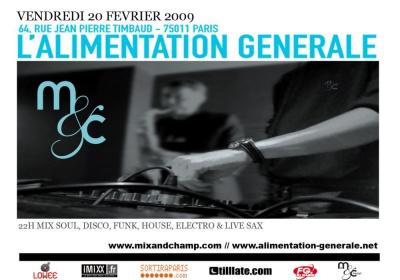 Soirée, Paris, Mix & Champ, Alimentation Générale