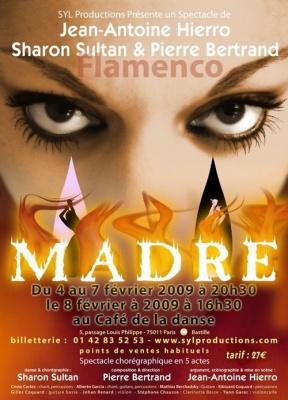 Spectacle, Paris, Opéra Flamenco, Madre, Café de la danse