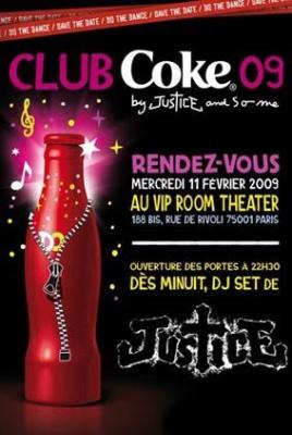 Paris, Club Coke, Justice, So Me, Vip Room Theatre.
