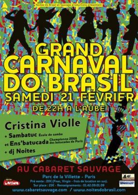 Soirée, Paris, Carnaval, Clubbing, Cabaret Sauvage, Sambatuc, Carnaval Do Brasil