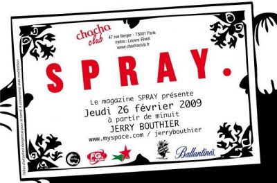 Soirée, Spray, Paris, Chacha, Jerry Bouthier