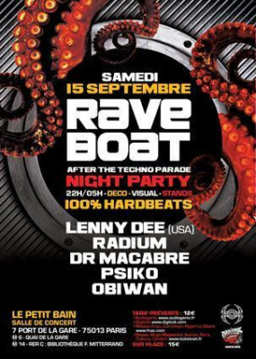 RAVE BOAT after Techno Parade [Night Party]